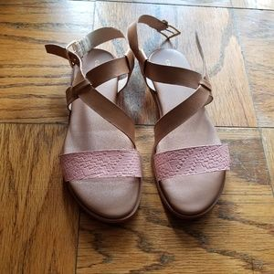 Cole Haan blush and tan sandals size 5.5